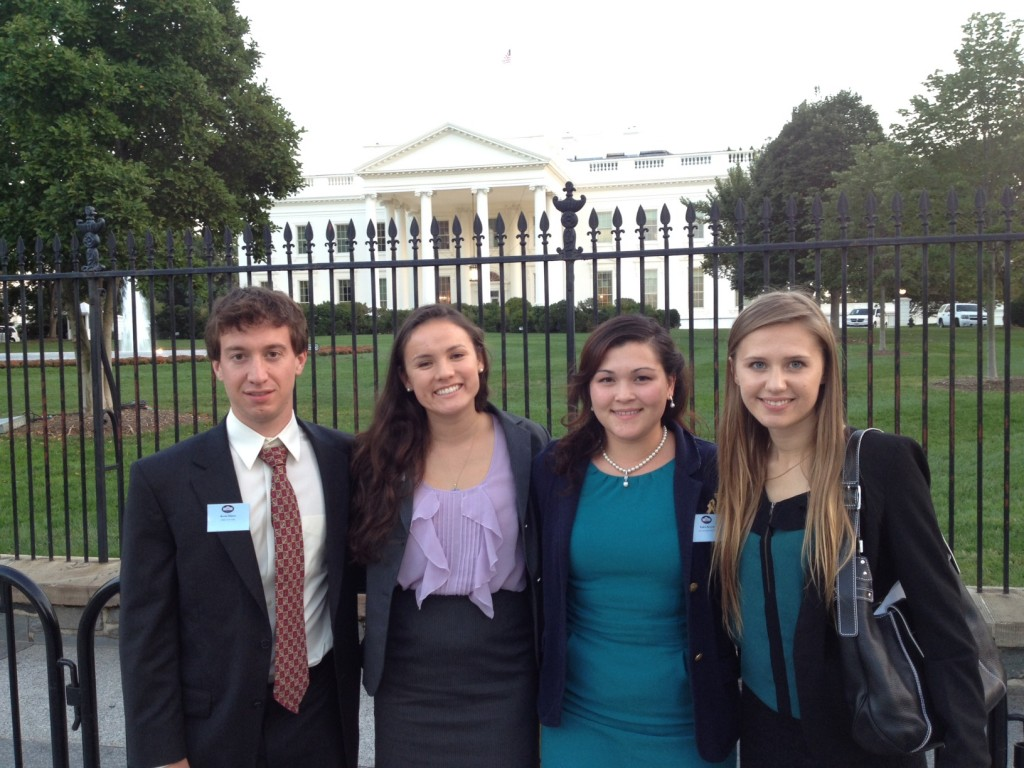 ASU student Kaleia Kramer (second from right) joined engineering Grand Challenge Scholars from other universities at the recent White House BRAIN Conference. Photo by: Randy Atkins/National Academy of Engineering